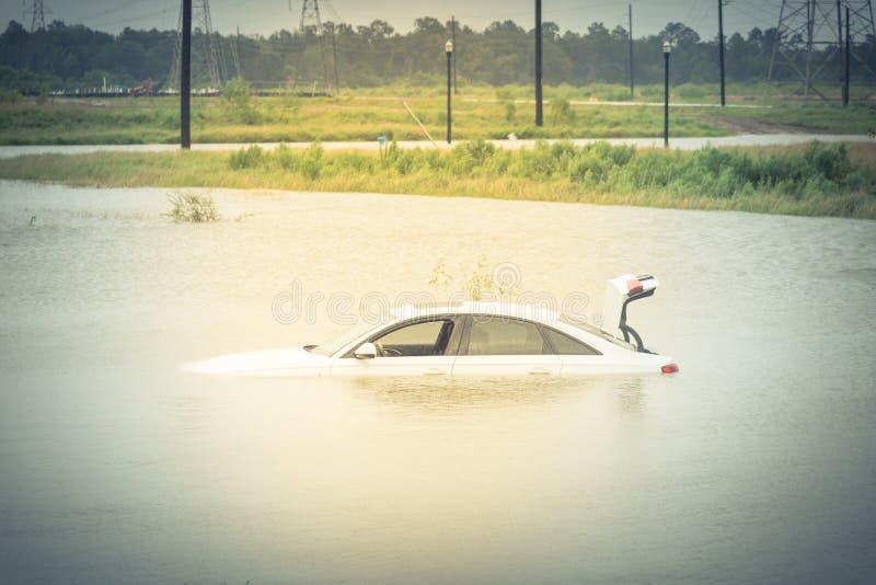 Bagno samochodowa powódź obraz stock