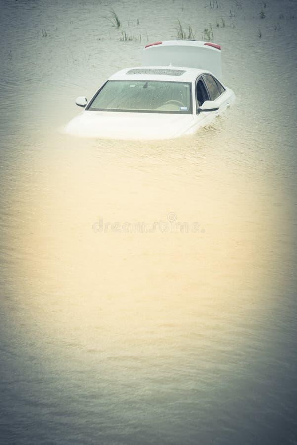 Bagno samochodowa powódź fotografia stock