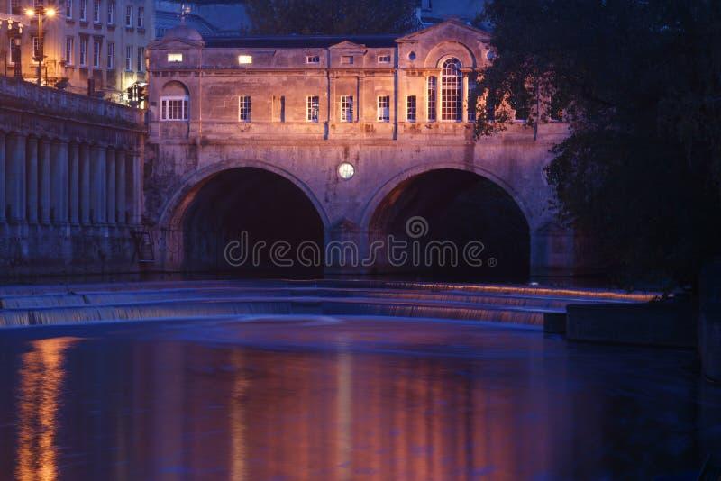 Bagno storico del ponticello di Pultney fotografia stock libera da diritti