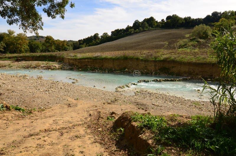 Bagno Termico Di Saturnia In Toscana Immagine Stock - Immagine di ...