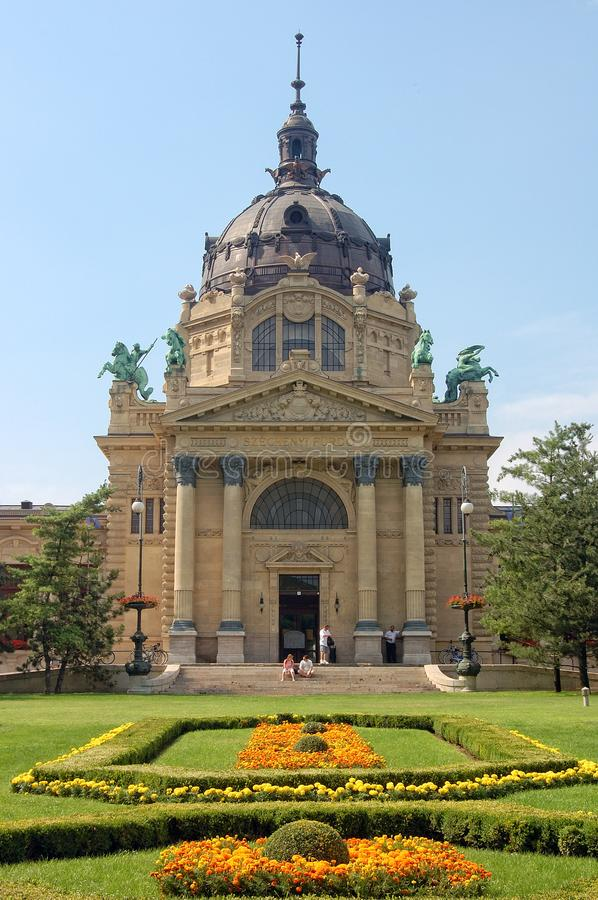 Bagno termico di Szechenyi - Budapest fotografia stock