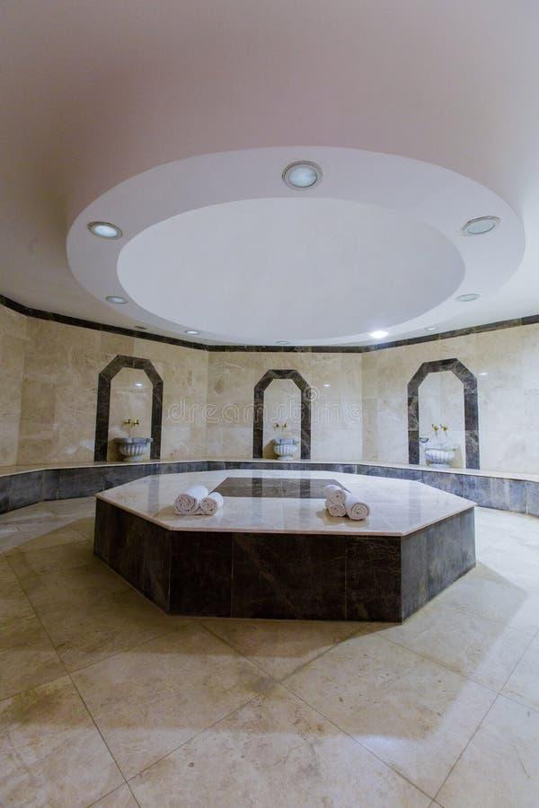 Bagno turco di bagno turco, bagno turco con le pietre calde fotografie stock