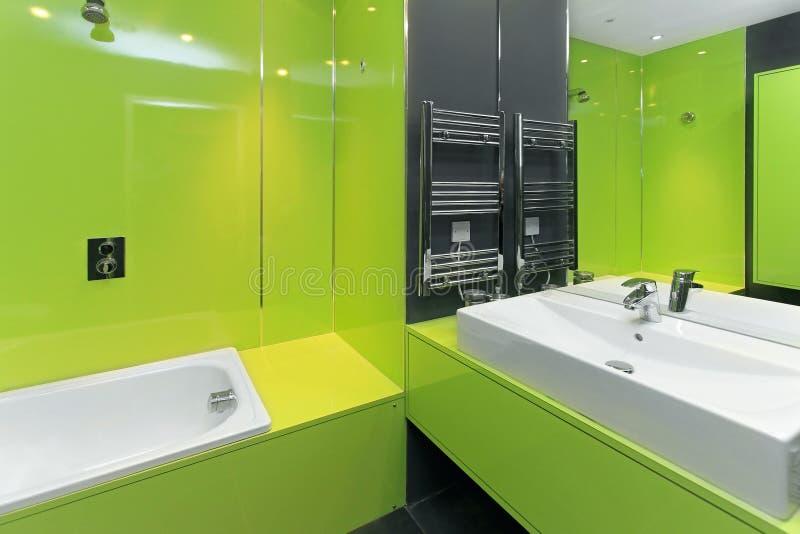 Download Bagno verde fotografia stock. Immagine di bagno, bathroom - 30826998