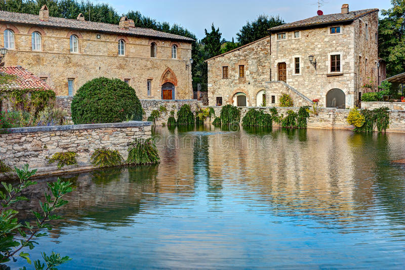 Bagno Vignoni stock image. Image of antique, relax, middle - 21735881