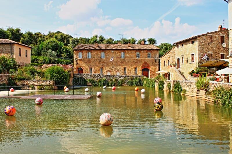 Bagno Vignoni stock image. Image of countryside, bassin - 70624483