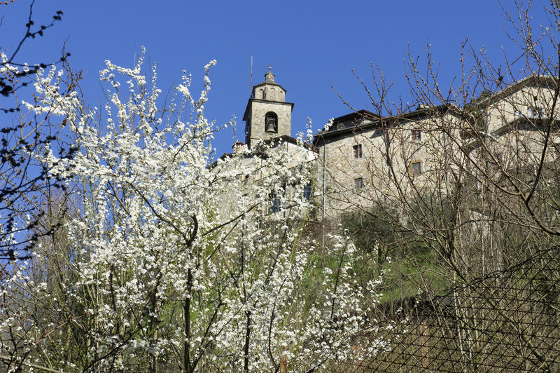 Download Bagnone stock image. Image of green, bagnone, house, village - 18989603
