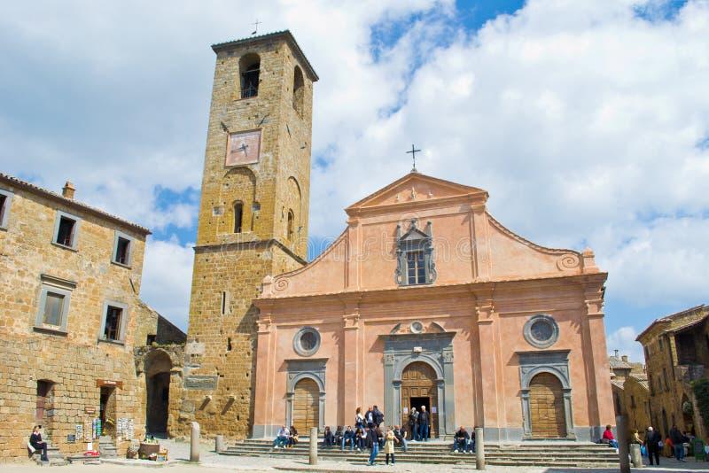 bagnoregio老教会civita 图库摄影