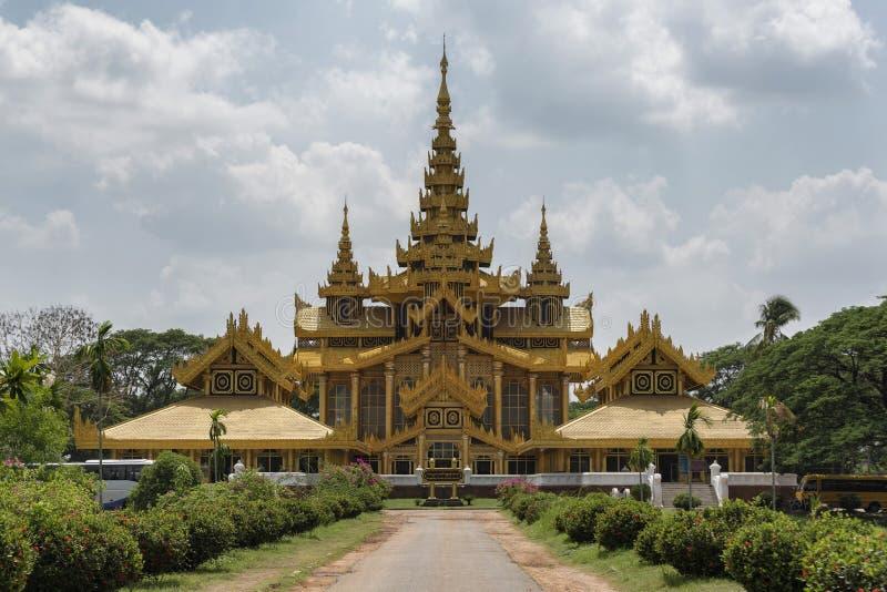 BAGO,缅甸- 2017年5月6日:Kanbawzathadi宫殿, Bago,缅甸 免版税库存照片