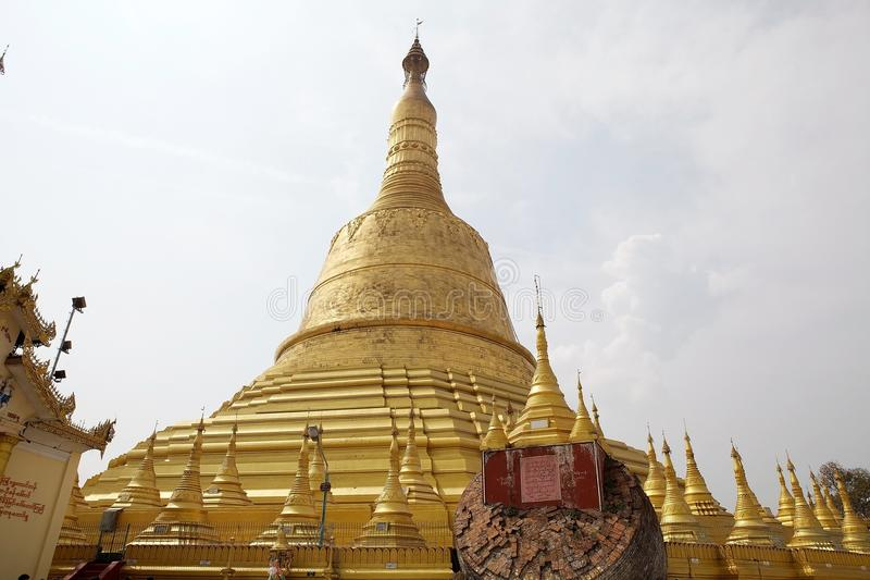 Bago. Shwemawdaw Paya, Bago, Myanmar. Shwemawdaw Paya is a stupa located in Bago, Myanmar. It is often referred to as the Golden God Temple. At 114 m in height royalty free stock photo