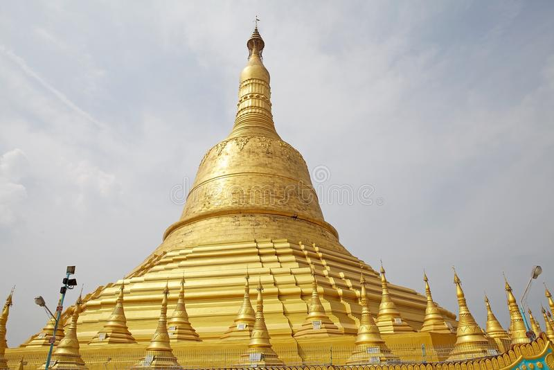 Bago. Shwemawdaw Paya, Bago, Myanmar. Shwemawdaw Paya is a stupa located in Bago, Myanmar. It is often referred to as the Golden God Temple. At 114 m in height royalty free stock photography