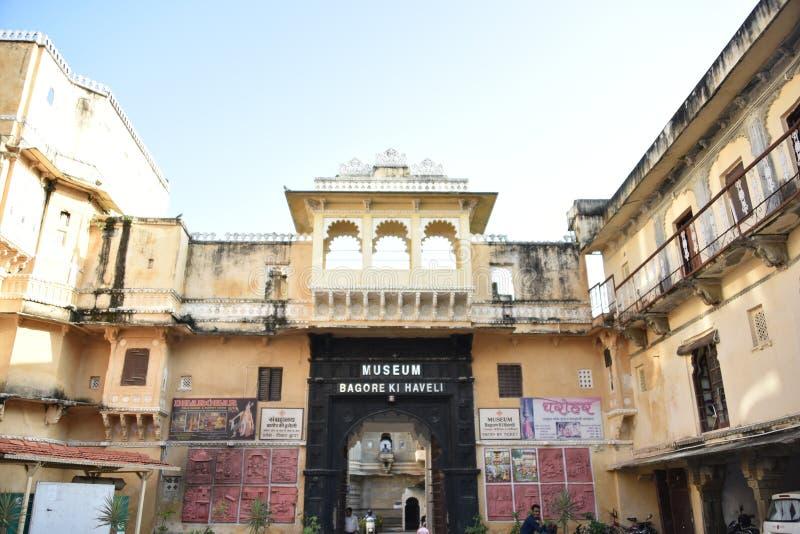 Bagore Ki Haveli, Udaipur, Ragiastan fotografia stock libera da diritti