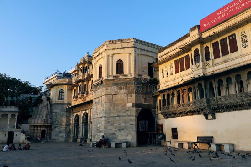 Bagore Ki Haveli, Udaipur, Ragiastan fotografia stock