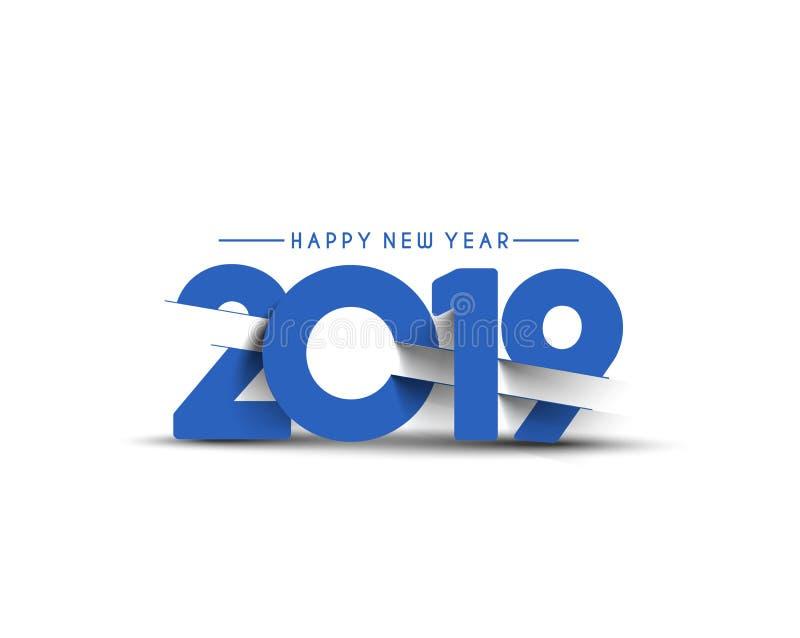 Bagout de conception des textes de la bonne année 2019 illustration libre de droits