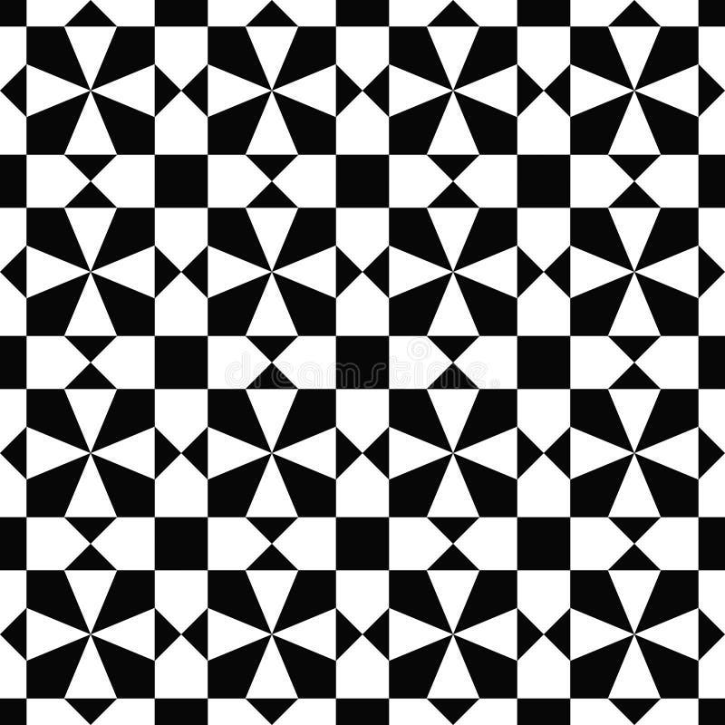 Bagout sans couture de vecteur fait avec répéter l'illustration géométrique dans le style médiéval illustration libre de droits