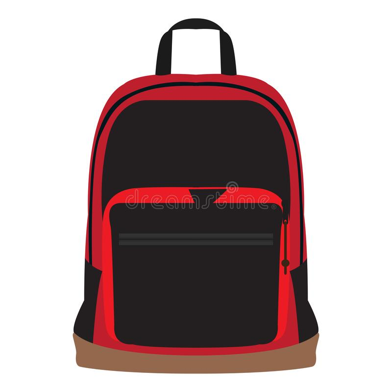 Bagpack d'isolement d'école illustration de vecteur