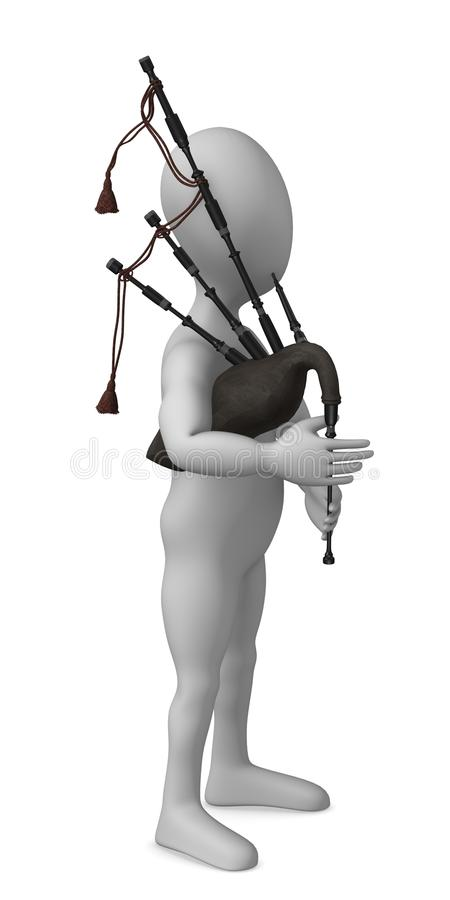 Download Bagpipe stock illustration. Image of wind, maker, character - 13263117