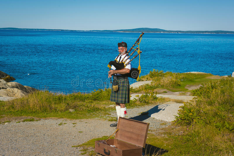 Bagpipe. Canada exploration bagpipe music sound royalty free stock images