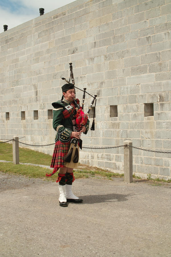 bagpiper φρουρά Henry οχυρών στοκ εικόνα με δικαίωμα ελεύθερης χρήσης