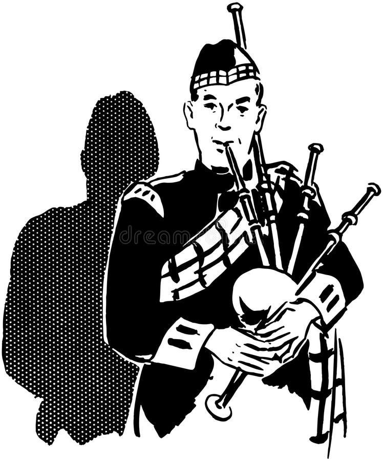 Bagpiper stock illustration