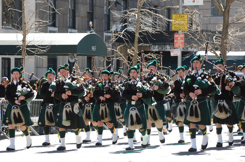 Bagpipers in New York City Saint Patrick s Parade