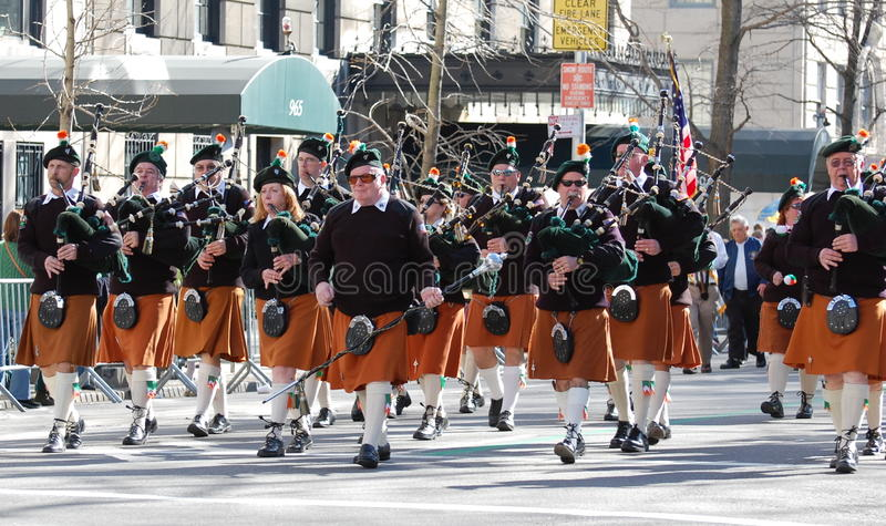 Download Bagpipers In New York City Saint Patrick's Parade Editorial Image - Image: 23313430