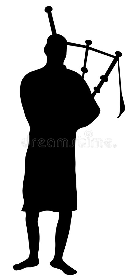 Download Bagpipes stock illustration. Image of silhouette, kilt - 140666