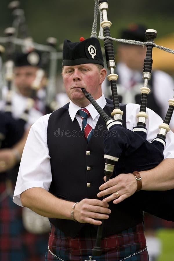 Bagpipes - Highland Games - Scotland stock photo