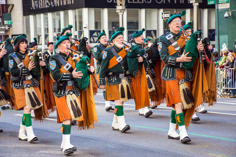 Bagpipes and Kilts stock photo