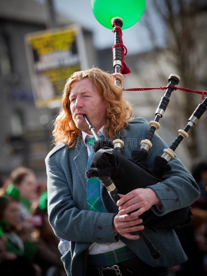 Download Bagpipes musician editorial stock photo. Image of saint - 23938878