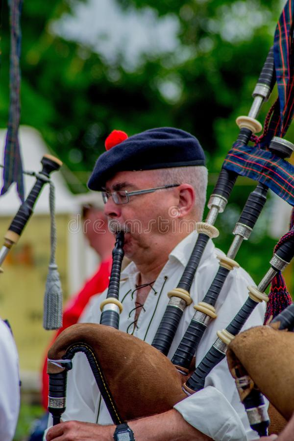 Bagpipes, Musician, Musical Instrument, Wind Instrument stock photo