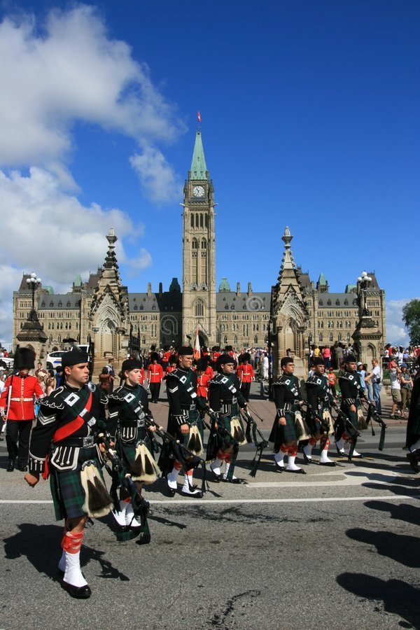 Download Bagpipes On Parliament Hill Editorial Stock Image - Image: 8189484