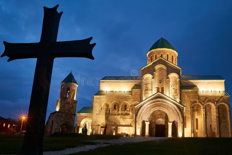 Bagrati ortodox kristen domkyrka i kutaisien, Georgia royaltyfria foton