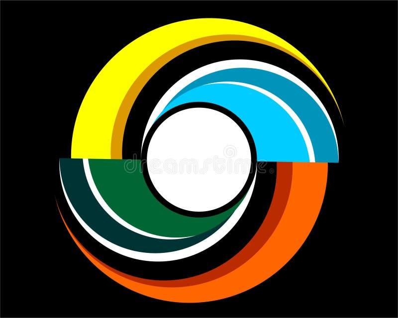 Baground abstrakt spiral som logo royaltyfri illustrationer