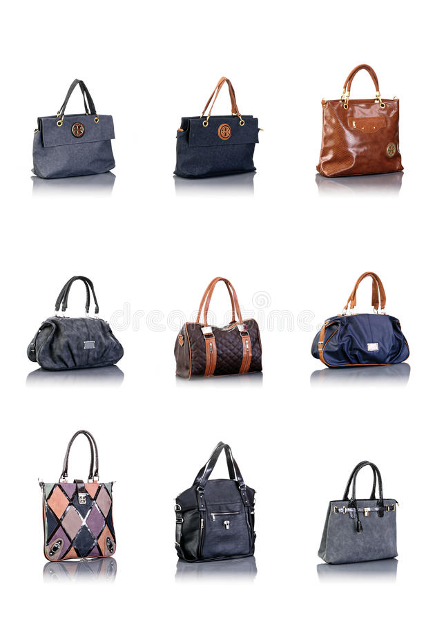Bags collection royalty free stock images