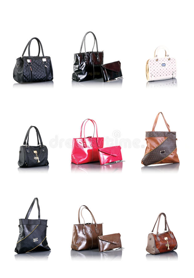 Bags collection stock photos