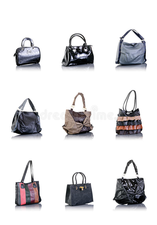 Bags collection royalty free stock photo