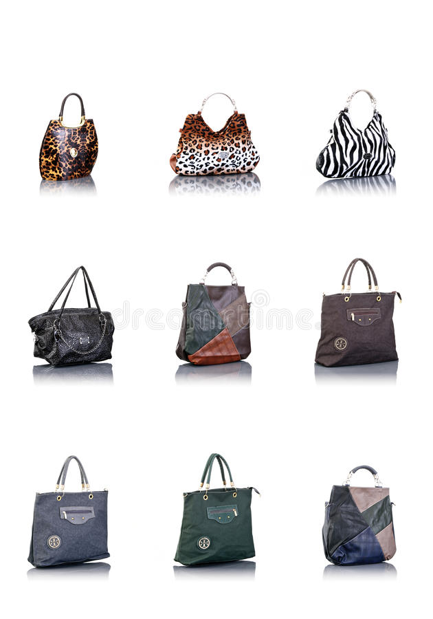 Bags collection stock images