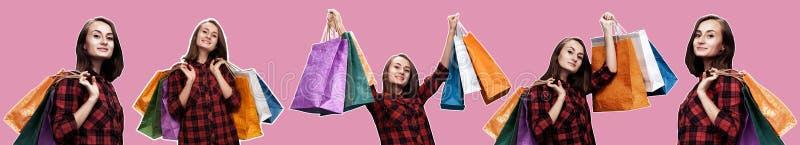 bags den shoping kvinnan arkivfoton
