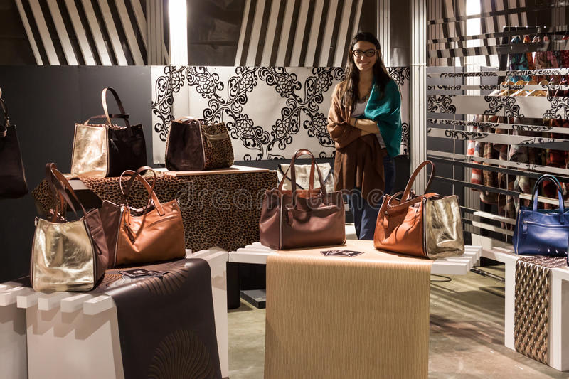 Bags On Display At Mipap Trade Show In Milan, Italy ...