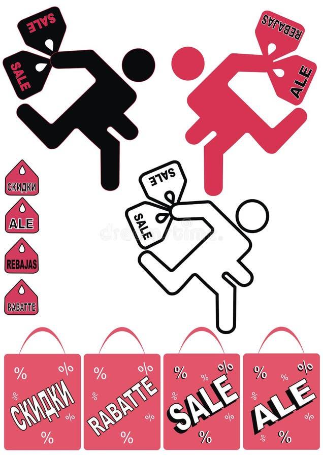 bags folkshopping royaltyfri illustrationer