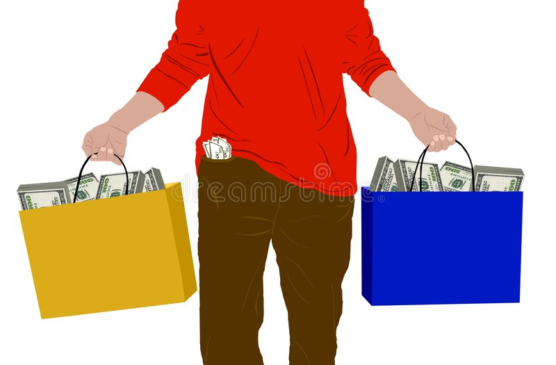 Download Bags full of money stock illustration. Image of carrying - 8252190
