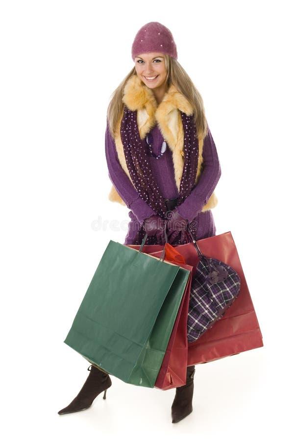 bags happy shopping woman стоковое фото rf