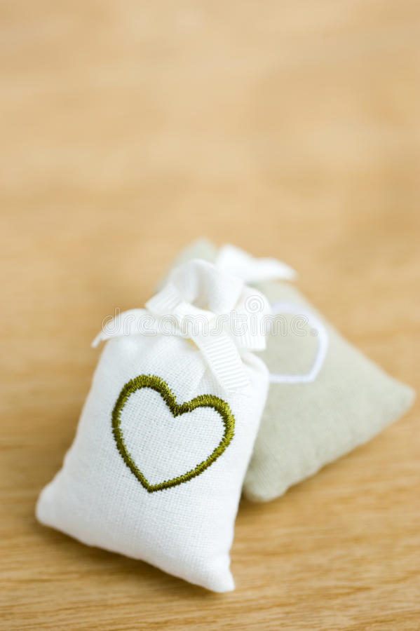Download Bags with heart symbol stock photo. Image of rope, heart - 22921642