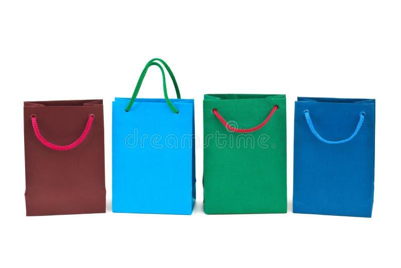 bags mångfärgad shopping royaltyfri fotografi