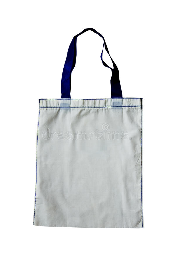 Bags made of cotton. Bags to reduce global warming royalty free stock photography