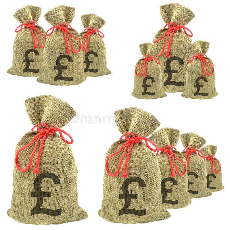 Download Bags Of Money With Pounds Sterling Stock Image - Image: 25381513