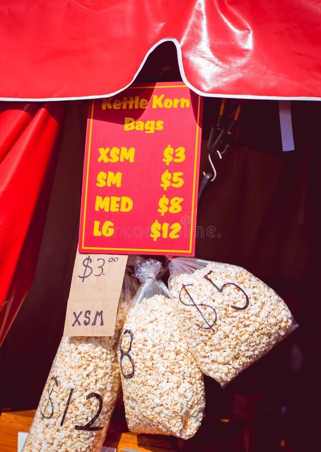 bags popcorn royaltyfria foton