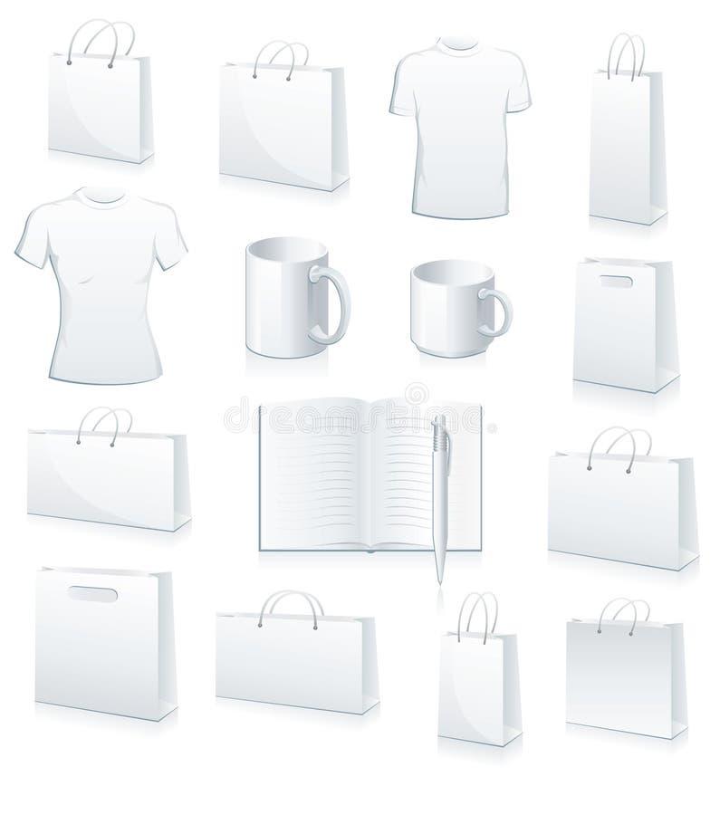 bags samlingsfotbolljersey shopping vektor illustrationer