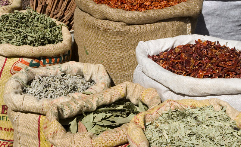 Bags Of Spices Stock Images
