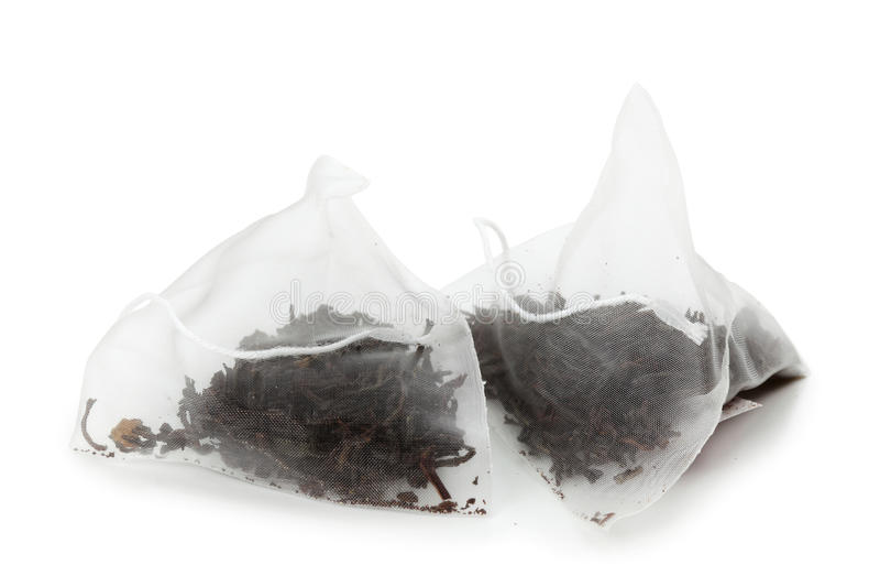 bags tea royaltyfri foto